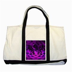Abstract In Purple Two Toned Tote Bag by FunWithFibro