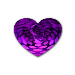 Abstract In Purple Drink Coasters (heart) by FunWithFibro