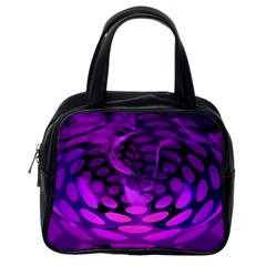 Abstract In Purple Classic Handbag (one Side) by FunWithFibro