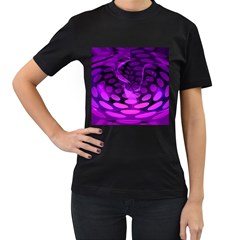 Abstract In Purple Women s T Shirt (black) by FunWithFibro