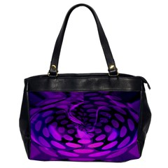 Abstract In Purple Oversize Office Handbag (one Side) by FunWithFibro