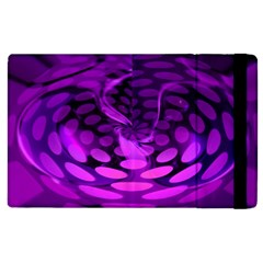 Abstract In Purple Apple Ipad 3/4 Flip Case by FunWithFibro