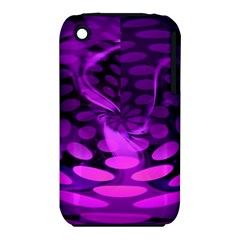 Abstract In Purple Apple Iphone 3g/3gs Hardshell Case (pc+silicone) by FunWithFibro