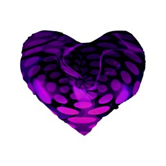 Abstract In Purple 16  Premium Heart Shape Cushion  by FunWithFibro