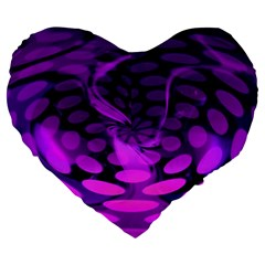 Abstract In Purple 19  Premium Heart Shape Cushion by FunWithFibro