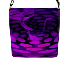 Abstract In Purple Flap Closure Messenger Bag (large) by FunWithFibro