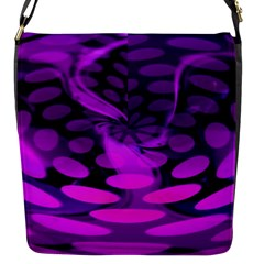Abstract In Purple Flap Closure Messenger Bag (small) by FunWithFibro