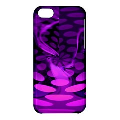 Abstract In Purple Apple Iphone 5c Hardshell Case by FunWithFibro