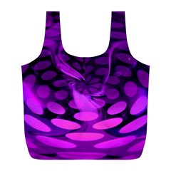 Abstract In Purple Reusable Bag (l) by FunWithFibro