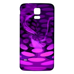 Abstract In Purple Samsung Galaxy S5 Back Case (White)