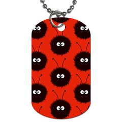 Red Cute Dazzled Bug Pattern Dog Tag (one Sided) by CreaturesStore