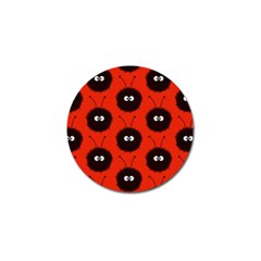 Red Cute Dazzled Bug Pattern Golf Ball Marker 10 Pack by CreaturesStore