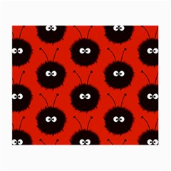Red Cute Dazzled Bug Pattern Glasses Cloth (small, Two Sided) by CreaturesStore