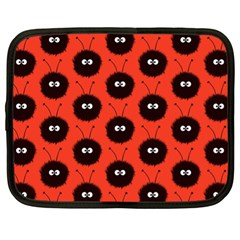 Red Cute Dazzled Bug Pattern Netbook Sleeve (xl) by CreaturesStore