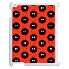 Red Cute Dazzled Bug Pattern Apple Ipad 2 Case (white) by CreaturesStore