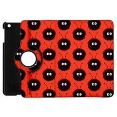 Red Cute Dazzled Bug Pattern Apple Ipad Mini Flip 360 Case by CreaturesStore