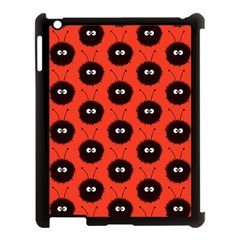 Red Cute Dazzled Bug Pattern Apple Ipad 3/4 Case (black) by CreaturesStore