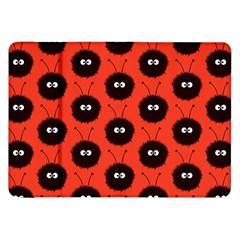 Red Cute Dazzled Bug Pattern Samsung Galaxy Tab 8 9  P7300 Flip Case by CreaturesStore