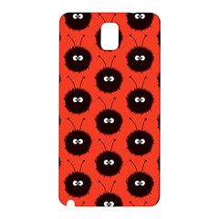 Red Cute Dazzled Bug Pattern Samsung Galaxy Note 3 N9005 Hardshell Back Case by CreaturesStore