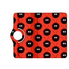 Red Cute Dazzled Bug Pattern Kindle Fire Hdx 8 9  Flip 360 Case by CreaturesStore