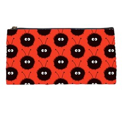 Red Cute Dazzled Bug Pattern Pencil Case by CreaturesStore