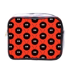 Red Cute Dazzled Bug Pattern Mini Travel Toiletry Bag (one Side) by CreaturesStore