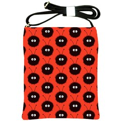 Red Cute Dazzled Bug Pattern Shoulder Sling Bag by CreaturesStore