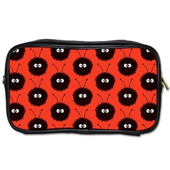 Red Cute Dazzled Bug Pattern Travel Toiletry Bag (two Sides) by CreaturesStore