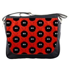 Red Cute Dazzled Bug Pattern Messenger Bag by CreaturesStore