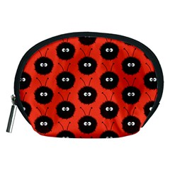 Red Cute Dazzled Bug Pattern Accessories Pouch (Medium) by CreaturesStore