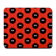 Red Cute Dazzled Bug Pattern Large Mouse Pad (rectangle) by CreaturesStore
