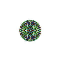 Colorful Geometric Abstract Pattern 1  Mini Button by dflcprints
