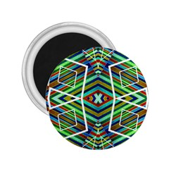 Colorful Geometric Abstract Pattern 2 25  Button Magnet by dflcprints