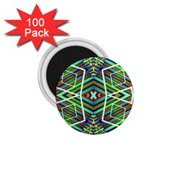 Colorful Geometric Abstract Pattern 1 75  Button Magnet (100 Pack) by dflcprints