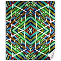 Colorful Geometric Abstract Pattern Canvas 8  x 10  (Unframed)
