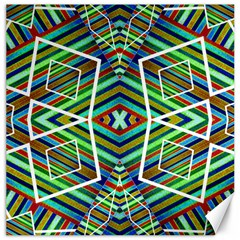 Colorful Geometric Abstract Pattern Canvas 12  X 12  (unframed) by dflcprints