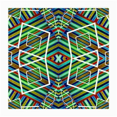 Colorful Geometric Abstract Pattern Glasses Cloth (medium) by dflcprints