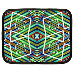 Colorful Geometric Abstract Pattern Netbook Sleeve (large) by dflcprints