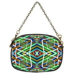 Colorful Geometric Abstract Pattern Chain Purse (two Sided)  by dflcprints