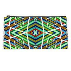 Colorful Geometric Abstract Pattern Pencil Case by dflcprints