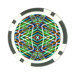 Colorful Geometric Abstract Pattern Poker Chip (10 Pack) by dflcprints