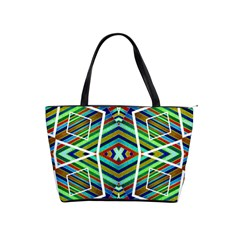 Colorful Geometric Abstract Pattern Large Shoulder Bag by dflcprints