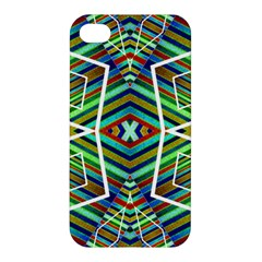Colorful Geometric Abstract Pattern Apple Iphone 4/4s Hardshell Case by dflcprints