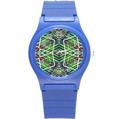 Colorful Geometric Abstract Pattern Plastic Sport Watch (small) by dflcprints