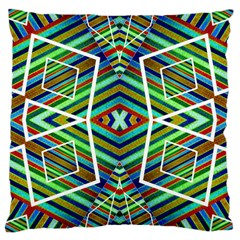 Colorful Geometric Abstract Pattern Large Cushion Case (two Sided)  by dflcprints