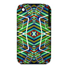 Colorful Geometric Abstract Pattern Apple Iphone 3g/3gs Hardshell Case (pc+silicone)