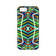 Colorful Geometric Abstract Pattern Apple Iphone 5 Classic Hardshell Case (pc+silicone)