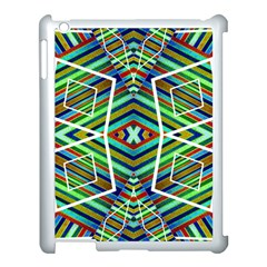 Colorful Geometric Abstract Pattern Apple Ipad 3/4 Case (white) by dflcprints
