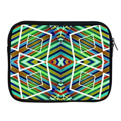 Colorful Geometric Abstract Pattern Apple Ipad Zippered Sleeve by dflcprints
