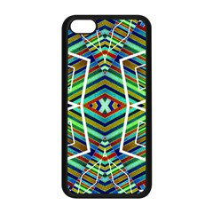 Colorful Geometric Abstract Pattern Apple Iphone 5c Seamless Case (black) by dflcprints